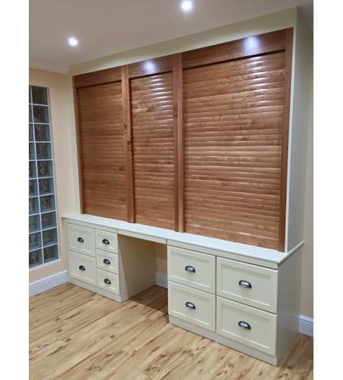 4 Wooden Tambour Door